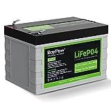 12V 12Ah Deep Cycle LiFePO4 Battery, Roypow 12...