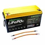 12V 200Ah Deep Cycle LiFePO4 battery RV Solar...