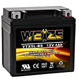 Weize YTX5L-BS High Performance - Maintenance Free - Sealed AGM Motorcycle CTX5L Battery Replacement For Honda YUASA Yamaha ETX5L BS Batteries