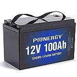 LiFePO4 Battery, 12V 100Ah Lithium Battery 2000...