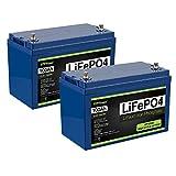 2 Pack ExpertPower 12V 100Ah Lithium LiFePO4 Deep...