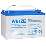 Weize 12V 100AH Pure Gel Deep Cycle Rechargeable...