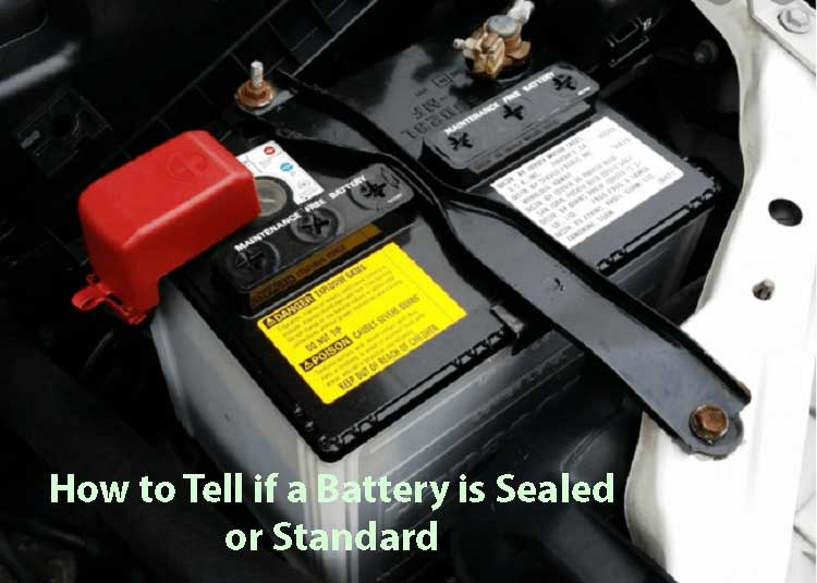 How to tell if a battery is sealed or standard