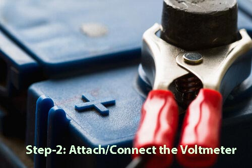 Step2-Attach or Connect the Voltmeter